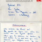 courrier 'un auditeur pour Jacky Christophe (cette année-là) mai 1983