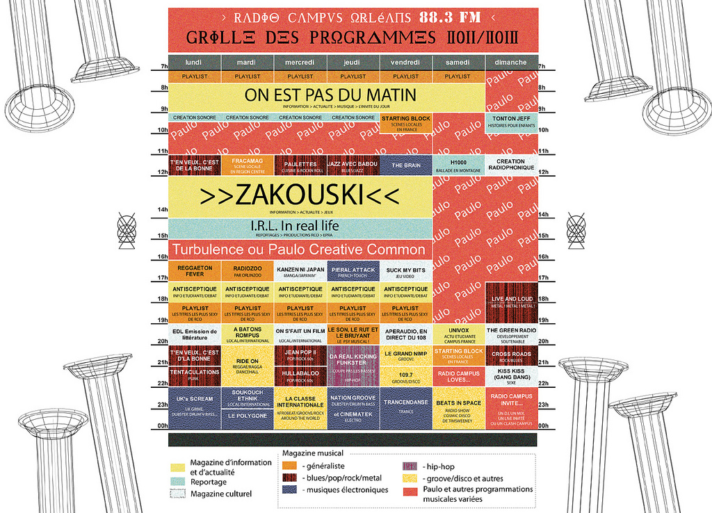 grille des programmes radio campus 2011/2012