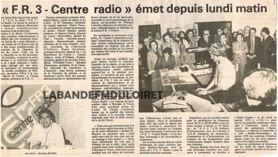 article du 10 juin1980 relatant l'inauguration de la station