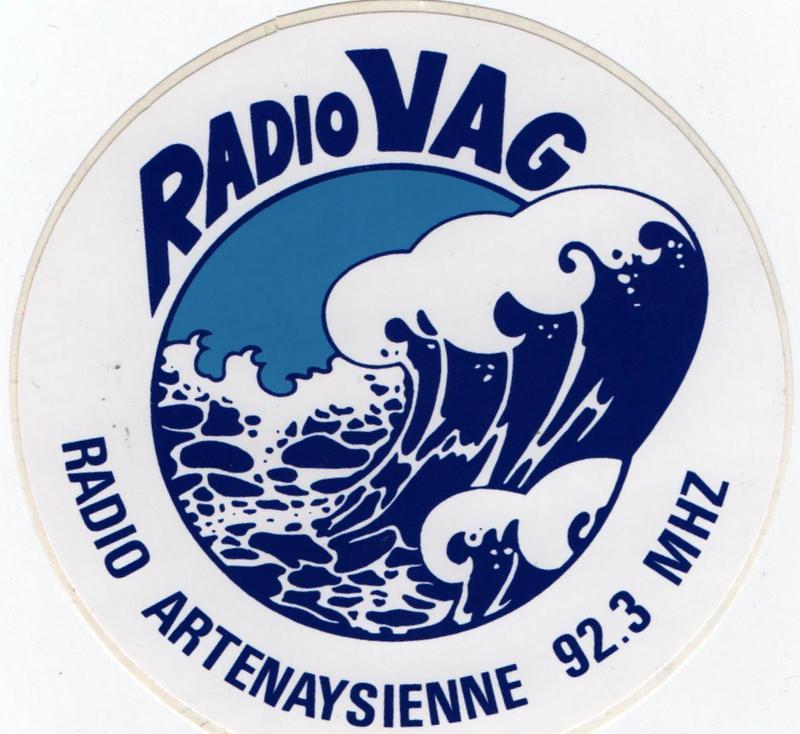 autocollant avec le logo, années 80