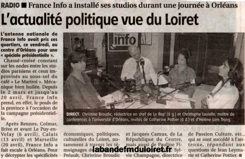 article de presse RC / 31 mars 2012