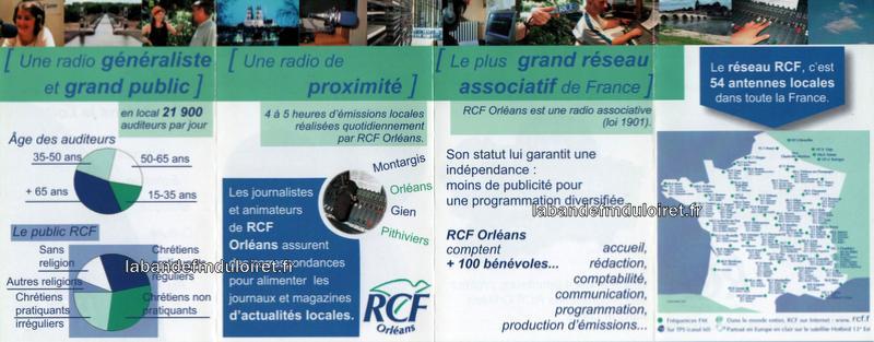dépliant RCF Orléans , 2006 (recto)