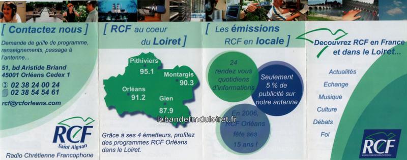 dépliant RCF Orléans , 2006 (verso)