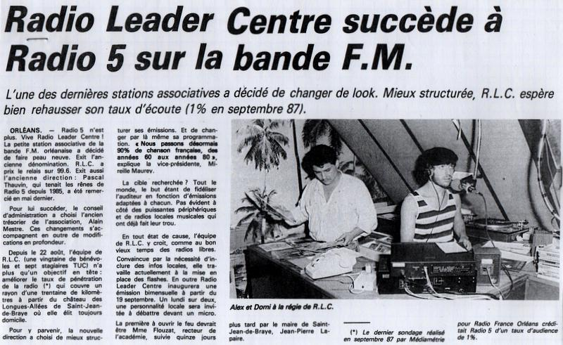 article de presse RC/16 sept. 1988