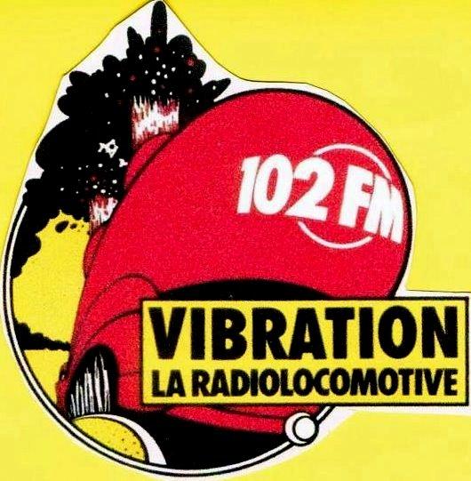 "1985, autocollant ""la radiolocomotive""."