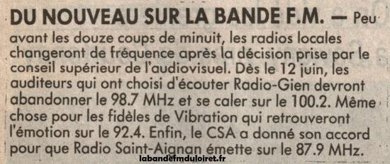 article de presse 11 juin 1991