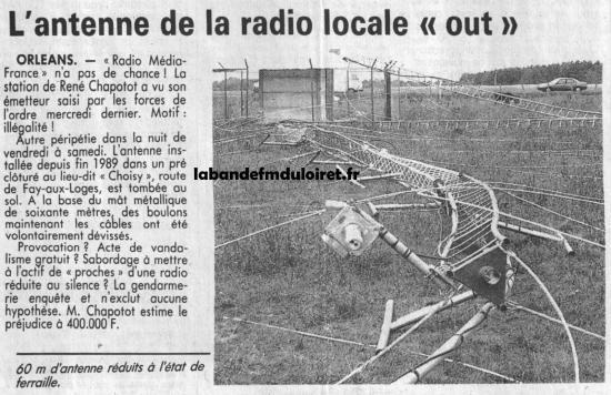 article de presse 1er juillet 1990