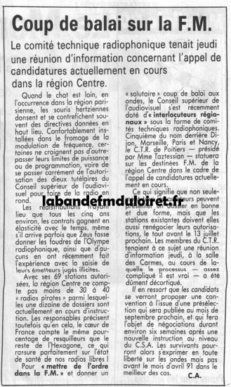 article de presse 29 juin 1990