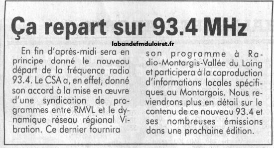 article de presse 20 avril 1994