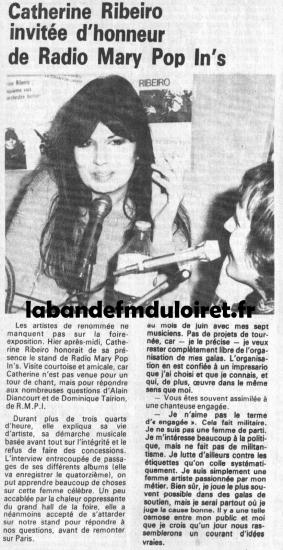 article de presse avril 1984