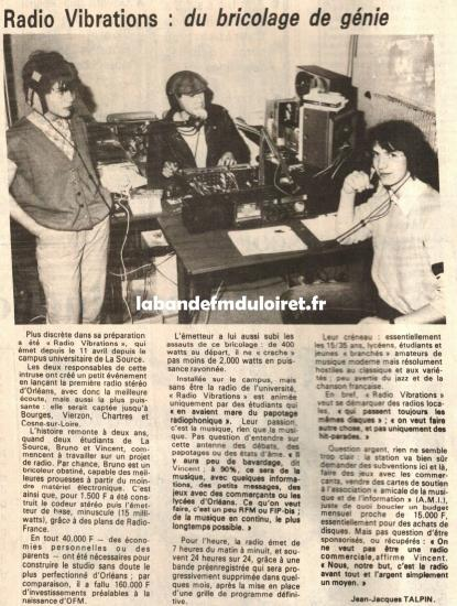 article de presse 26 avril 1983