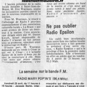 article de presse 30 avril 1983