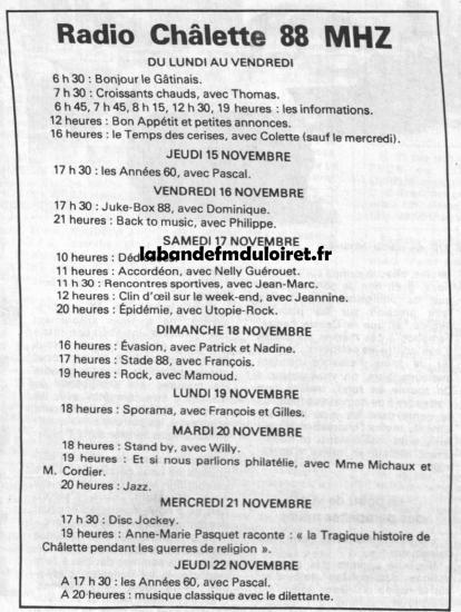 grille des programmes 1984