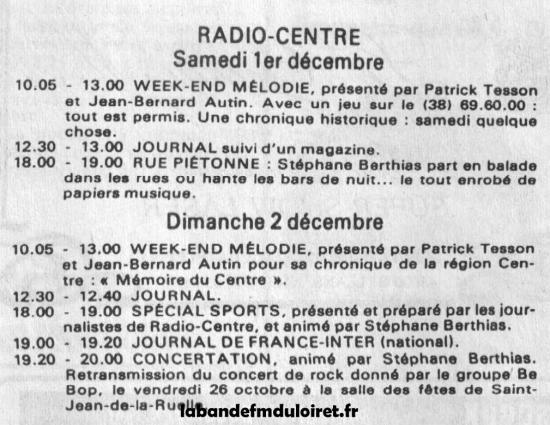Fr3 centre radio - Grille des programmes europe 1 ...