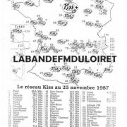 carte des fréquences KISS FM novembre 1987