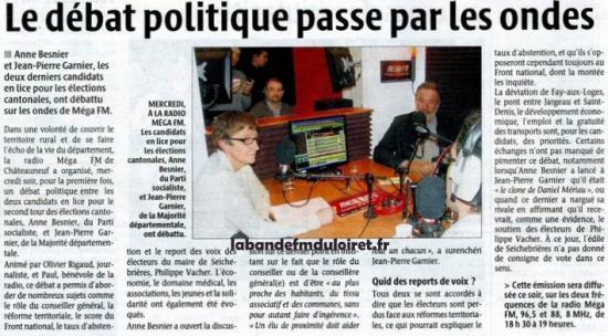 article de presse 25 mars 2011