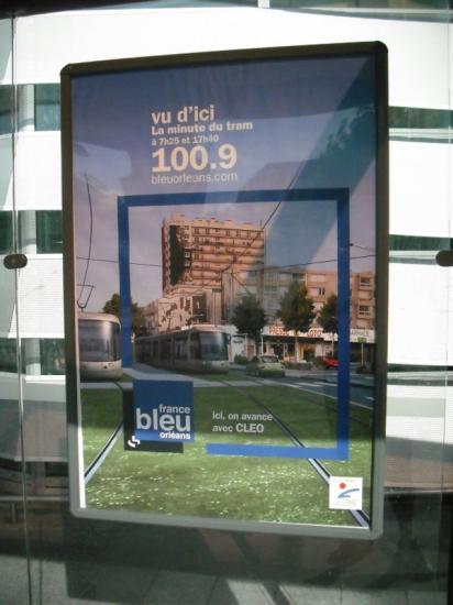publicité pour les travaux du tramway en 2011