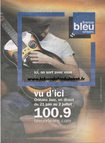 publicité juin 2011 pour Orléans-Jazz