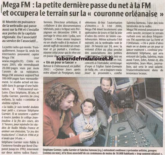 article de presse 23 avril 2008