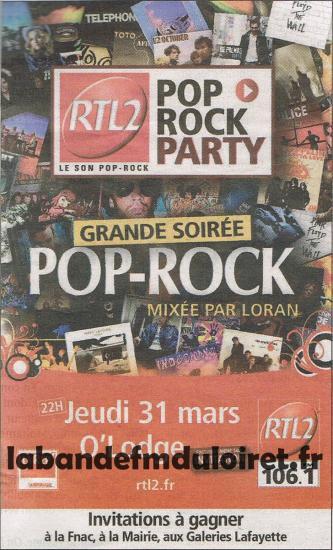 publicité pour la soirée RTL 2 du 31 mars 2011