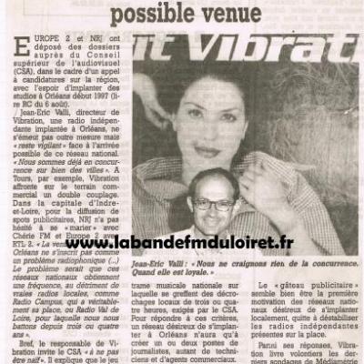article de presse 26 aout 1996