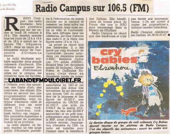 article de presse 21 oct. 1994