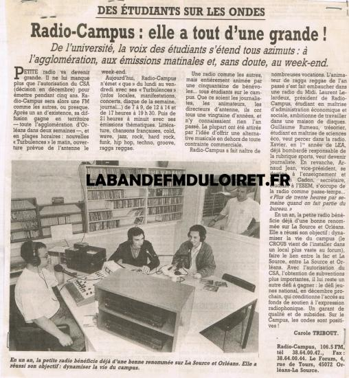 article de presse 12 oct. 1995