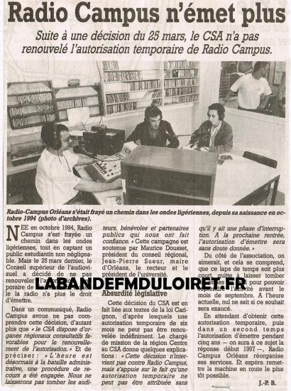 article de presse 5 avril 1996
