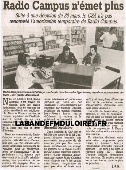 article de presse 5 avril 1996
