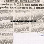 article de presse oct. 1998