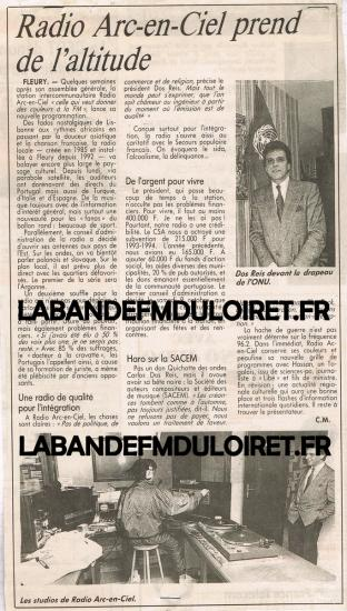 article de presse 16 oct. 1993