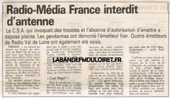 article de presse 9 oct. 1989