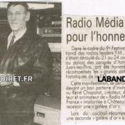René Chapotot et martine Carel/artcile de presse janv. 1993