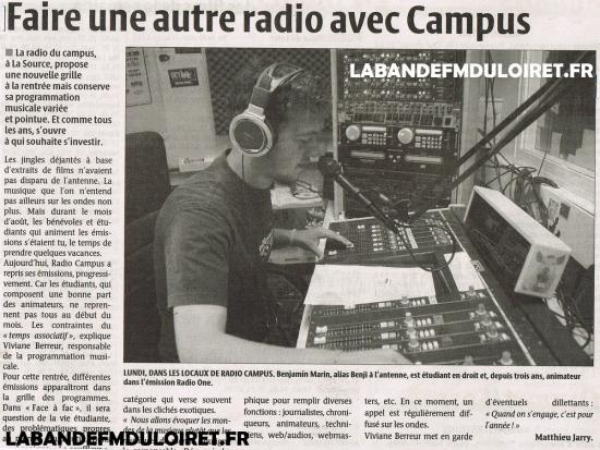 article de presse 16 sept. 2010