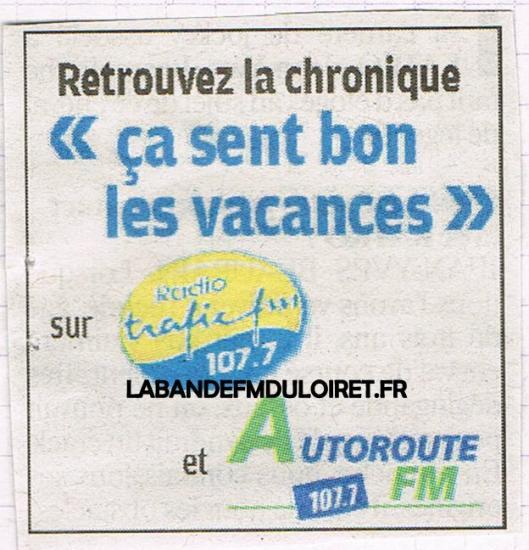 publicité juillet 2010 commune aux radios du groupe Vinci
