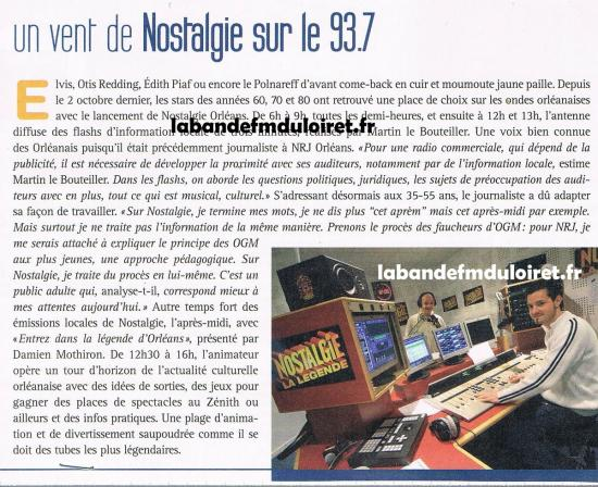 article de presse mars 2007