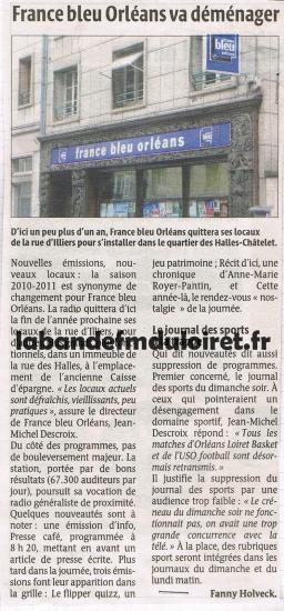 article de presse 22 sept. 2010