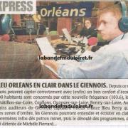 article de presse 13 janv. 2009 sur la nouvelle fréquence de Gien