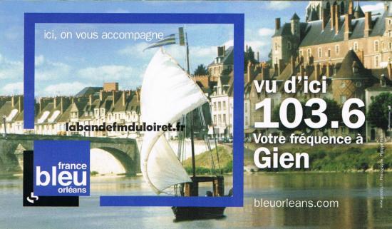 publicité pour la fréquence nouvelle de Gien janv. 2009