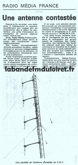 article de presse aôut 1984