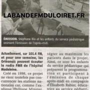 article de presse 21 juin 2011