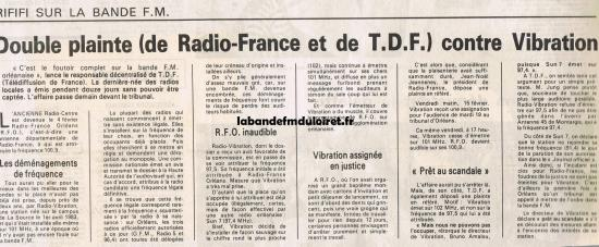article de presse 18 fév. 1985