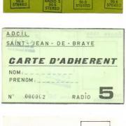 carte de presse et d'adhérent de la station