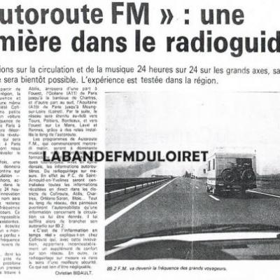 AUTOROUTE FM - RADIO VINCI AUTOROUTES / AUTOROUTE INFO