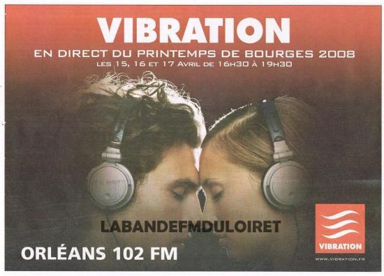 publicité pour émission en direct du printemps de Bourges 2008