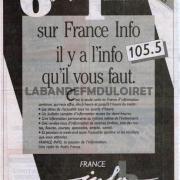 publicité pour l'arrivée a Orléans de France Info