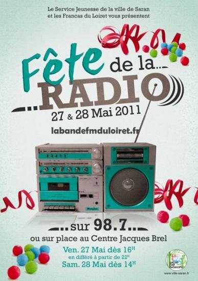 affiche de la fête de la radio ,mai 2011