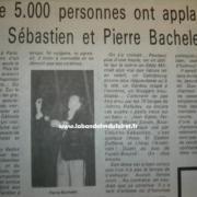 article de presse sur le gala du 18 fév.1983