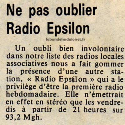 article de presse 29 avril 1983