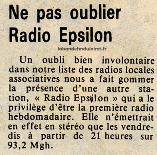 article de presse 29 avril 1983